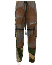 Off-White c/o Virgil Abloh - Contrast Camouflage Print Trousers - Lyst