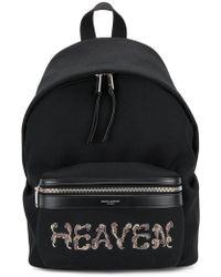 39cffb0006db Saint Laurent - Heaven Embellished Backpack - Lyst