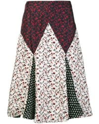 9ee335cb2a CALVIN KLEIN 205W39NYC - Floral Print Mix Skirt - Lyst