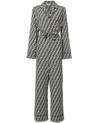 Fendi - Belted Ff Logo Jumpsuit - Lyst
