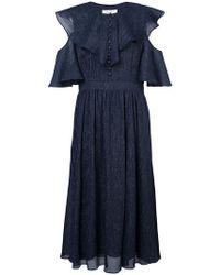 Prabal Gurung - Ruffled Midi Dress - Lyst