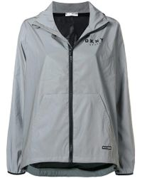 Donna Karan - Reflective Convertible Jacket - Lyst