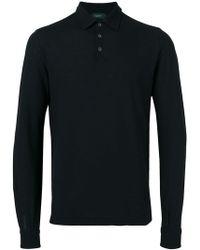 Zanone - Long Sleeve Polo Shirt - Lyst