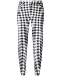 Blumarine - Checked Slim-fit Cropped Trousers - Lyst