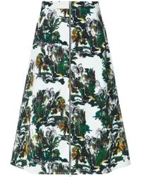 Andrea Marques - Printed Midi Skirt - Lyst