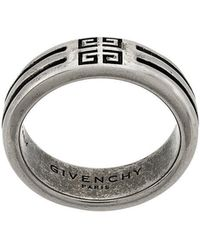 Givenchy - Logo Engraved Ring - Lyst
