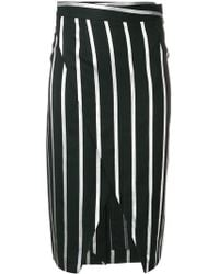 Each x Other | Striped Wrap-front Pencil Skirt | Lyst