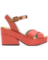 Paola D'arcano - Strap Contrast Sandals - Lyst