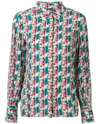 Elisabetta Franchi - Illustrated Shirt - Lyst