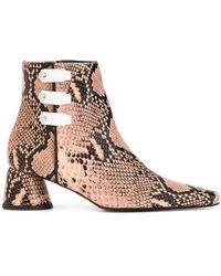 Ellery - Snake Pattern Ankle Boots - Lyst