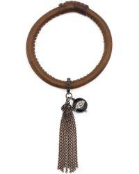 Loree Rodkin - Diamond Eye Charm Tassel Bracelt - Lyst