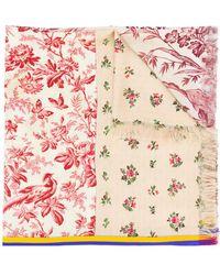Pierre Louis Mascia - Floral Print Scarf - Lyst