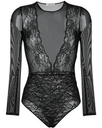 Faith Connexion - Lace Bodysuit - Lyst