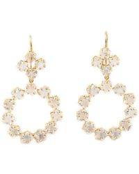 Marie-hélène De Taillac 22kt Gold 'rainbow' Moonstone Earrings - White