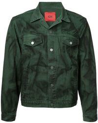 71eeb3a01 Spray Painted Denim Jacket