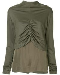G.v.g.v - Shirring Detail Layered Top - Lyst