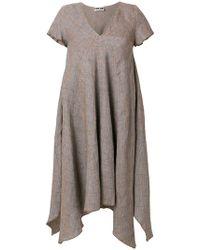 Hache - Short-sleeve Flared Midi Dress - Lyst