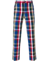 Thom Browne - Gingham Tartan Cotton Suiting Unconstructed Chino Trouser - Lyst