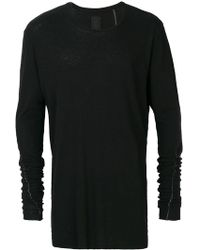 Thom Krom - Stitch Detail Long Sleeve Top - Lyst