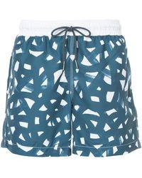 Venroy - Brush Print Swim Shorts - Lyst