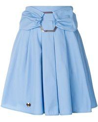 Philipp Plein - Belted Pleated Skirt - Lyst