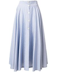 JOUR/NÉ - Striped A-line Midi Skirt - Lyst