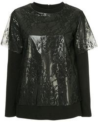 Goen.J - Overlaid Frosted Lace Top - Lyst