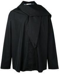 Aganovich - Scarf Detail Shirt - Lyst