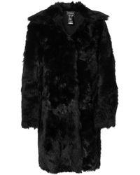 Ann Demeulemeester - Reversible Shearling Coat - Lyst
