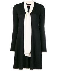 Twin Set - Contrast Neck-tied Jumper Dress - Lyst