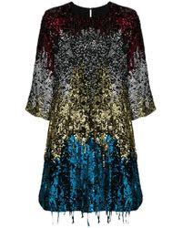 Amen - Sequin Tassel Shift Dress - Lyst