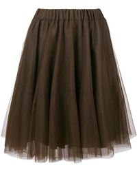 P.A.R.O.S.H. - Pleated Tulle Skirt - Lyst
