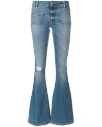 Dondup - Distressed Effect Bootcut Jeans - Lyst