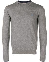 Sun 68 - Contrast Hem Sweater - Lyst