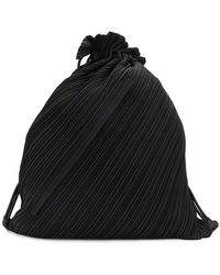 Pleats Please Issey Miyake | Pleated Drawstring Backpack | Lyst