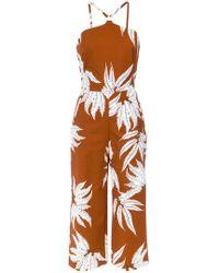 Andrea Marques - Fern Print Jumpsuit - Lyst