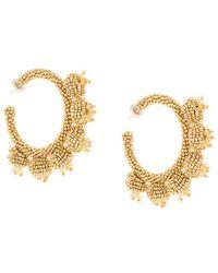 Sachin & Babi - Seedbead Hoop Earrings - Lyst