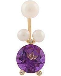 Delfina Delettrez - 'magic Triangle Pearl Piercing' Diamond Ring - Lyst