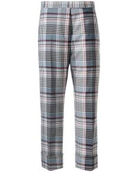 Thom Browne - Plaid Tailored Cropped Trousers - Lyst