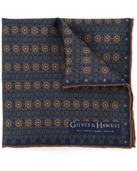 Gieves & Hawkes - Printed Scarf - Lyst