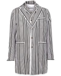 Moncler - Striped Short Coat - Lyst