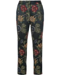Rosetta Getty - Floral embroidered tailored trousers - Lyst