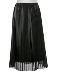 Guild Prime - Layered Pleated Organza Midi Skirt - Lyst