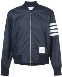 Thom Browne - Seamed 4-bar Stripe Ripstop Bomber - Lyst