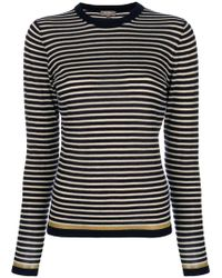 N.Peal Cashmere - Striped Jumper - Lyst