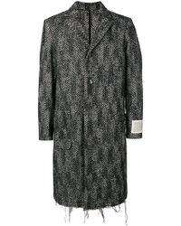 DIESEL - Manteau à chevrons et bords frangés - Lyst
