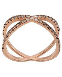 Eva Fehren - 14kt Rose Gold The Fine Shorty Diamond Ring - Lyst