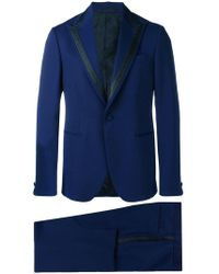 Versace - Single Breasted Jacquard Detailed Suit - Lyst