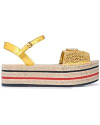 4fd960338591 Lyst - Vc Signature Milo Crochet Slingback Espadrille Wedge Sandal ...