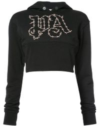 Palm Angels | Barbwire Cropped Hoodie | Lyst